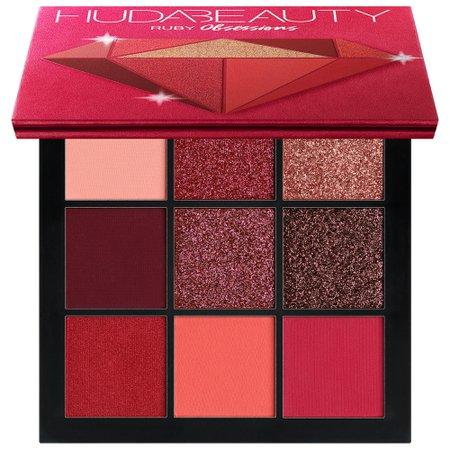 red eyeshadow palette