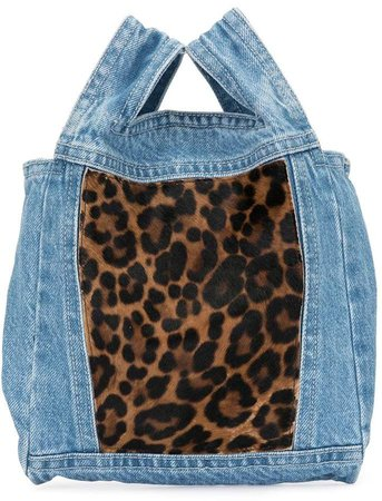 Furrissima baby denim tote bag