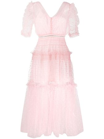 Shop Self-Portrait layered tulle dress with Express Delivery - FARFETCH