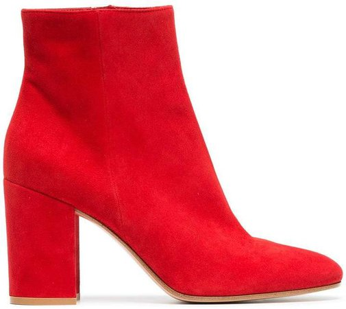 red margaux 85 suede leather ankle boots