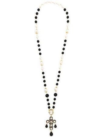 Dolce & Gabbana Crystal Bead Lariat Necklace - Farfetch