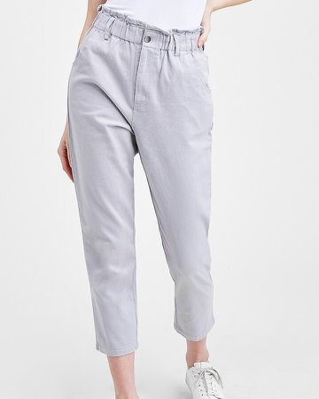 Emory Park High Waisted Paperbag Twill Pants