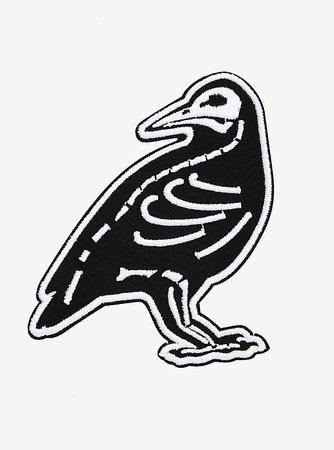 Crow Skeleton Patch