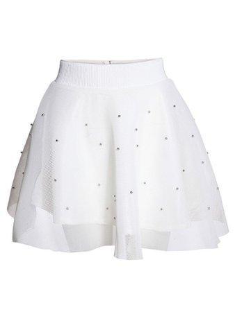 White layered skirt