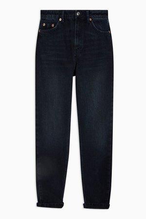 Blue Black Mom Jeans   Topshop