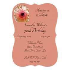 Peach Daisy Invitation - Pinterest