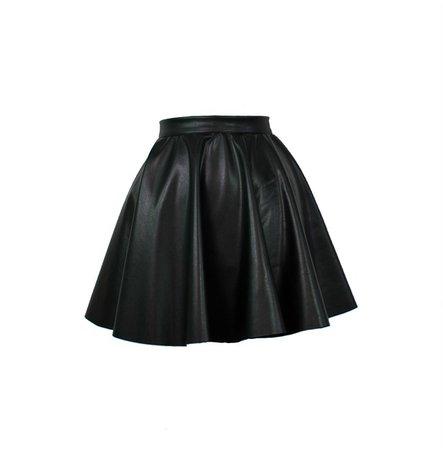 Black Leather Skirt, Leather Mini Skirt, Short Skirt, High Waist Skirt