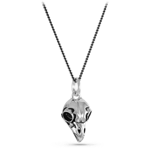 Owl Skull Antique Silver Necklace by Lost Apostle | Gothic