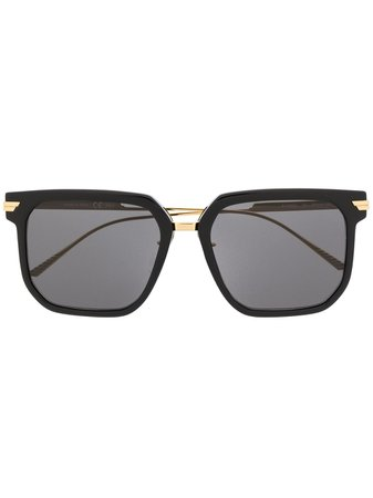 Bottega Veneta Eyewear BV1083SA square-frame Sunglasses - Farfetch