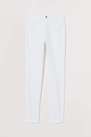 Super Skinny High Jeans - White