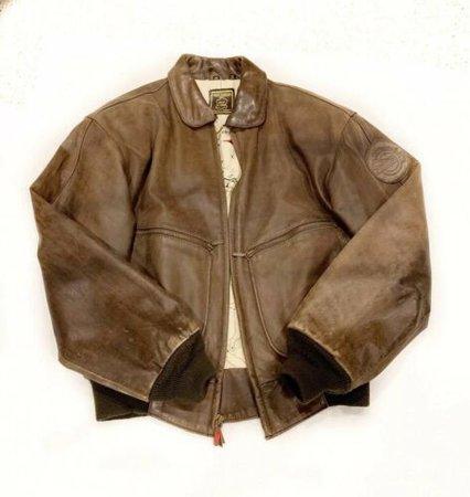 Hein Gericke Vintage 80's Distressed Bomber Leather Jacket Size Medium EUC | eBay