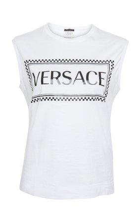 Printed Cotton Jersey Tank by Versace | Moda Operandi