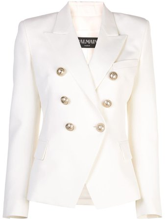Balmain peaked lapel blazer jacket £1,670 - Buy Online - Mobile Friendly, Fast Delivery
