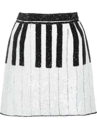Shop Dolce & Gabbana short piano skirt.
