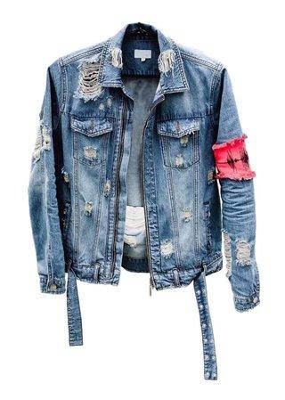 denim grunge jacket