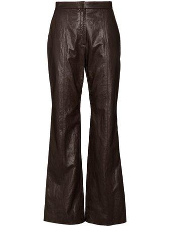 LVIR high-waisted Bootcut Trousers - Farfetch