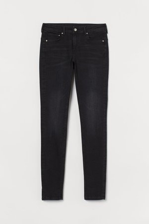 Push Up Ankle Jeans - Black