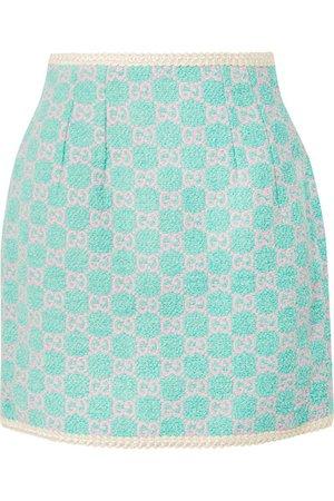 Gucci | Cotton-blend jacquard mini skirt | NET-A-PORTER.COM