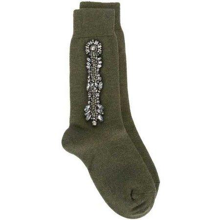 Nº21 Embellished Socks ($211)