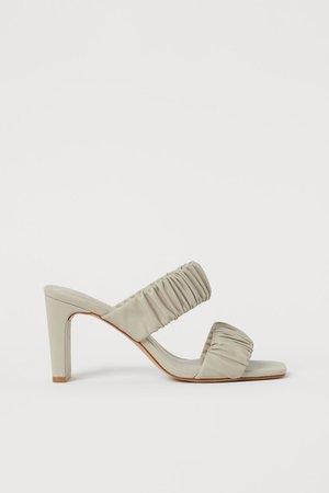 Slip-in Sandals - Beige - Ladies | H&M US