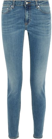 Skin 5 Faded Mid-rise Skinny Jeans