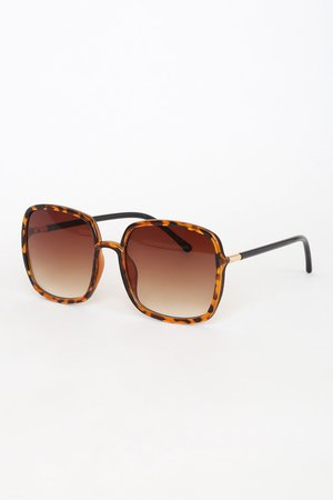 Cute Tortoise Sunglasses - Square Sunnies - Tortoise Sunnies