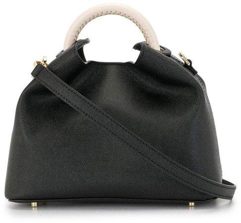 Baozi leather shoulder bag