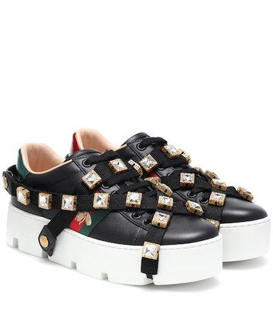 Ace embellished platform sneakers
