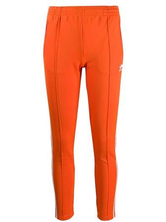 Orange Adidas Contrast Logo Track Pants   Farfetch.com