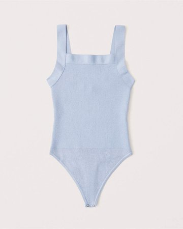 Women's Squareneck Knit Bodysuit | Women's New Arrivals | Abercrombie.com