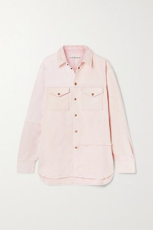 Net Sustain Oversized Organic Denim Jacket - Pastel pink