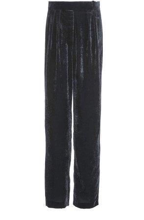 Pleated Virgin Wool Wide-Leg Pants