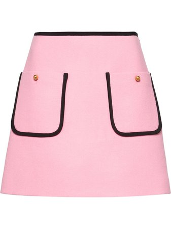 Miu Miu flared knitted skirt