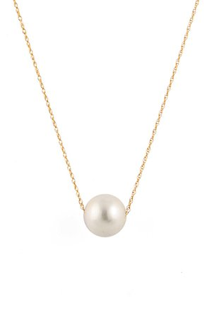 Splendid Pearls | 14K Yellow Gold 10-11mm Freshwater Pearl Pendant Necklace | Nordstrom Rack