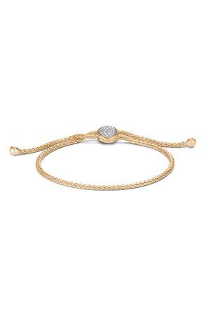 John Hardy Classic Chain 18K Gold & Diamond Pavé Pull Through Bracelet | Nordstrom