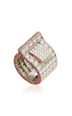 Fabio Salini Fibbia Pink Sapphire Ring