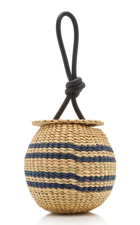The Johnny Striped Straw Bag by Poolside | Moda Operandi