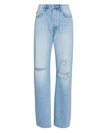 SABLYN Sammy Distressed Straight-Leg Jeans | INTERMIX®