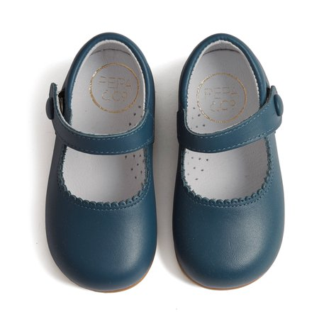 BLUE LEATHER MARY JANE SHOES
