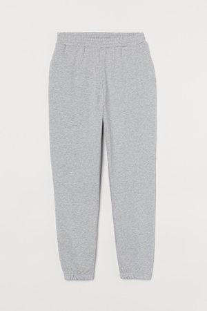 Cotton Sweatpants - Light gray melange - Ladies | H&M US