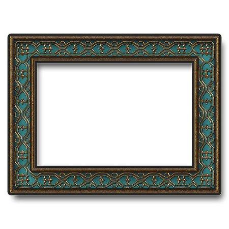 teal frame