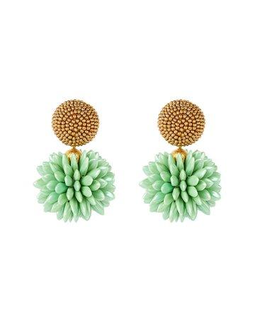 Oscar de la Renta Beaded Cluster Drop Earrings | INTERMIX®