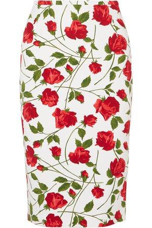 Michael Kors Collection | Floral-print cady skirt | NET-A-PORTER.COM