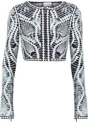 Imogen Cropped Jacquard-knit Top