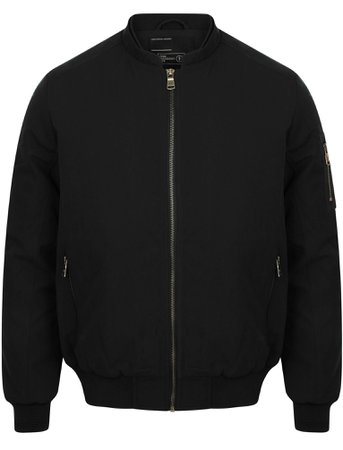 Whitecross Zip Up Bomber Jacket in Black – Dissident | Tokyo Laundry