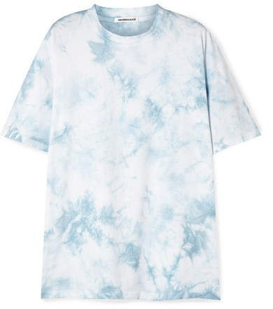 Honolulu Oversized Tie-dyed Cotton-jersey T-shirt - Blue