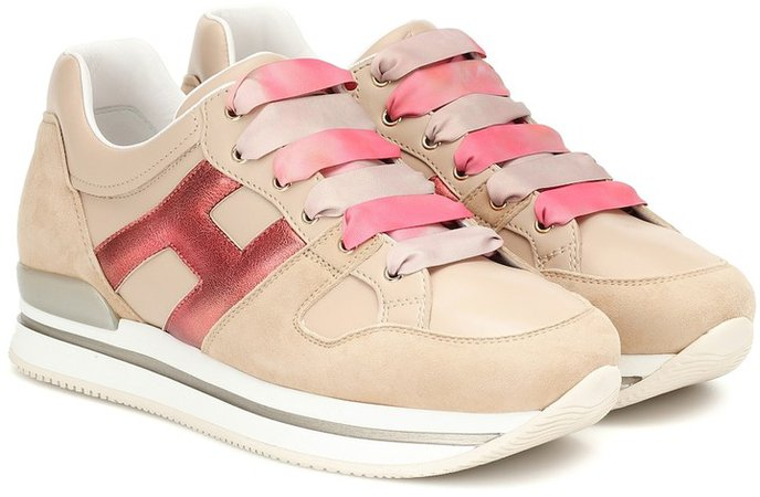 H222 leather sneakers