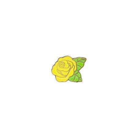 yellow rose pin