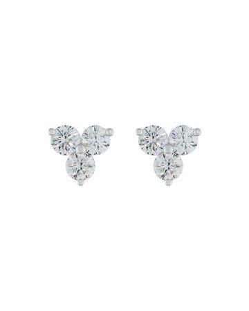 Memoire for Forevermark Round Diamond Trio Earrings | Neiman Marcus