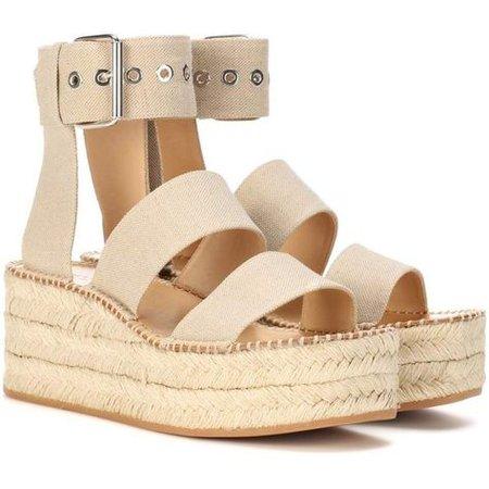 Beige Platform Sandals